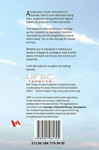 ISBN Tax Sale Back Cover